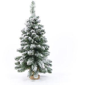 SAPIN - ARBRE DE NOËL Sapin de Noël artificiel en PVC et ciment - 90 cm