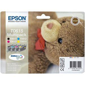 CARTOUCHE IMPRIMANTE Cartouche d'encre Epson T0615 N/C/M/J série ourson