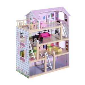 DINETTE - CUISINE Maison de poupée en bois jeu d'imitation grand réa