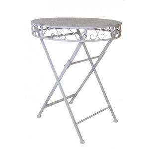 TABLE DE JARDIN  Table De Jardin En Fer 74 cm