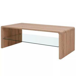 TABLE BASSE Luxueux Magnifique Table basse Marron