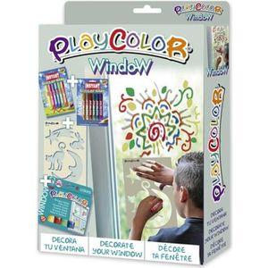 KIT PEINTURE PLAYCOLOR - Pack Window 2-en-1 - 6 sticks de peint
