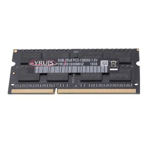 MÉMOIRE RAM YRUIS Ddr3 8Gb 1600 Mhz Ram Sodimm Mémoire pour Or