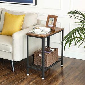 TABLE D'APPOINT VASAGLE Table d'appoint 60 x 30 x 60 cm - Table de
