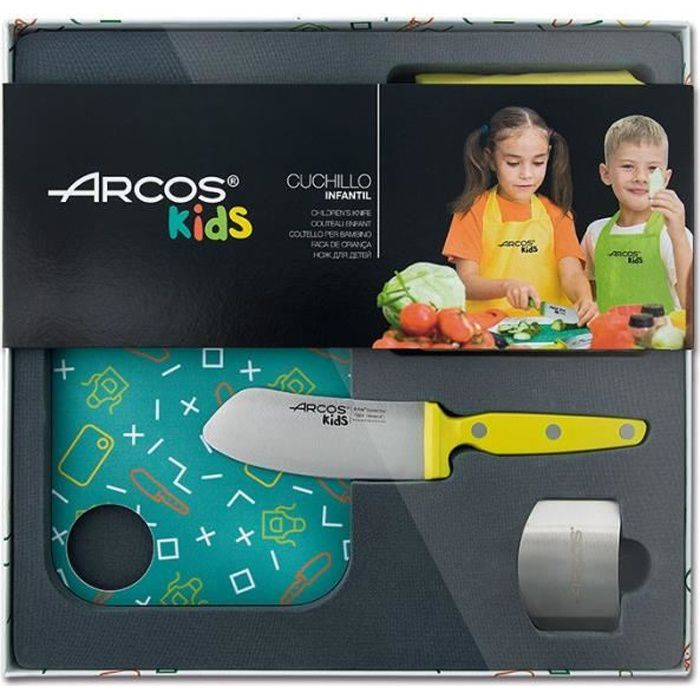 Arcos - Coffret Couteau Enfants Jaune - ARCOS Jaune, Vert