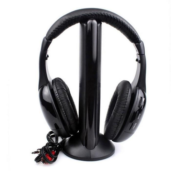 5in1 Salut-Fi Casque sans fil Casque stéréo pour PC portable TV FM Radio MP3 Casque 478