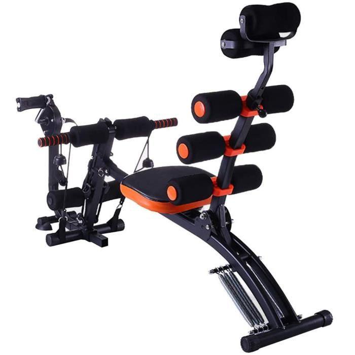 6 en 1 Entraîneurs Abdominaux Pliable,Machine D'entraînement Abdominale Équipement de Musculation