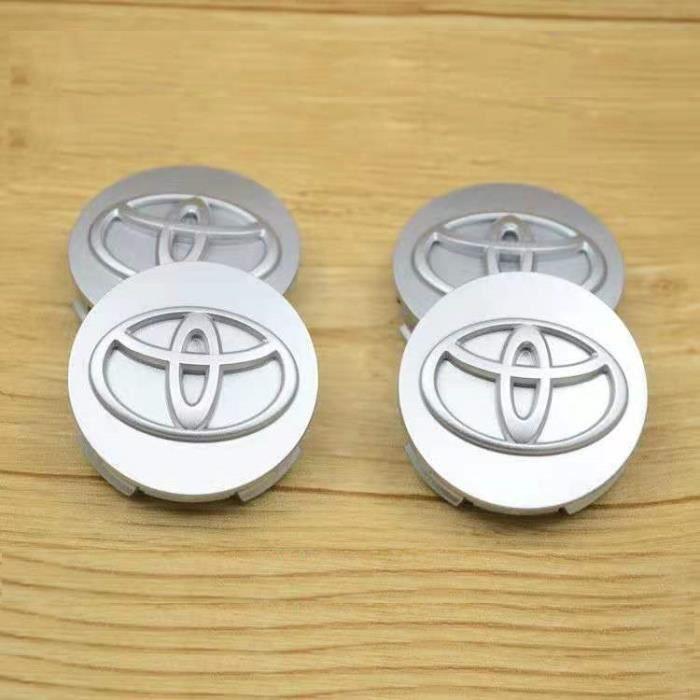 4 pièces Centre de roue, Toyota argent 62mm,cache-moyeu avec Logo, pour Toyota Corolla Vios Reiz YARIS, CAMRY AURION RAV4