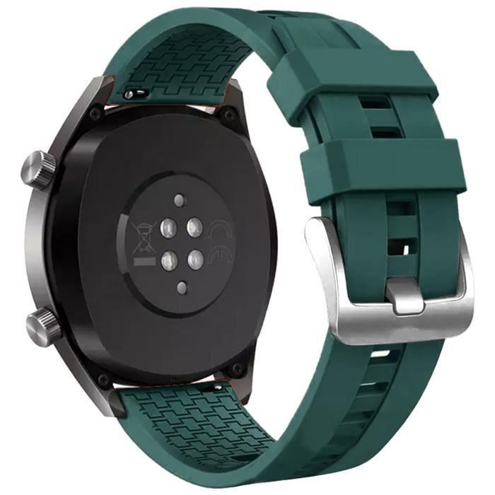 MONTRE OUTDOOR Bracelet de montre en silicone pour Huawei Watch GT Active 46mm Honor Magic bg336