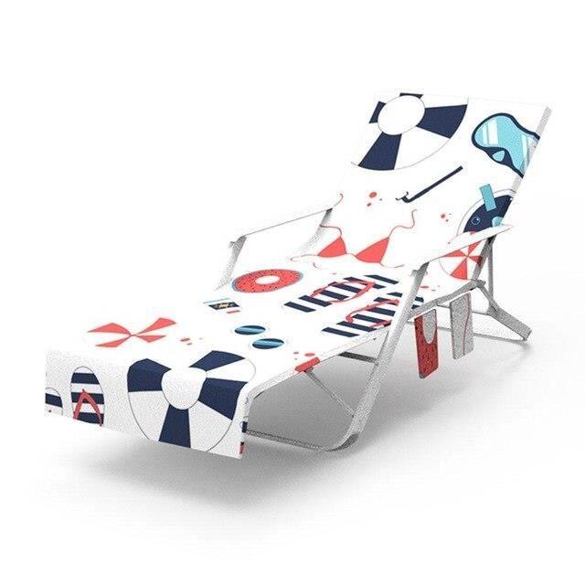 Nouveau imprimé microfibre soleil chaise longue plage couverture serviette vacances jardin pisc - Modèle: 3 75x215cm - TEYYMJA05899
