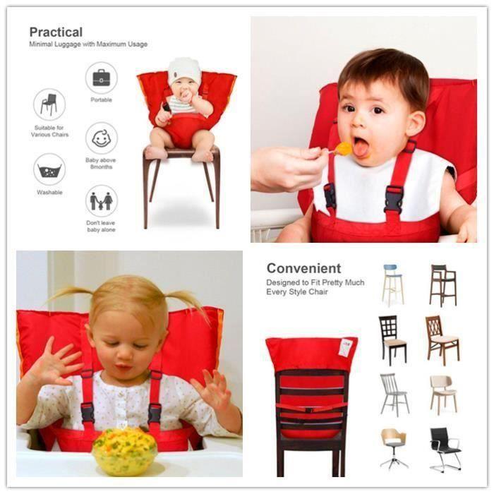 BK Chaise de voyage portative et siège de sécurité Ceinture de sécurité pour bébés et tout-petits avec siège à sangles.