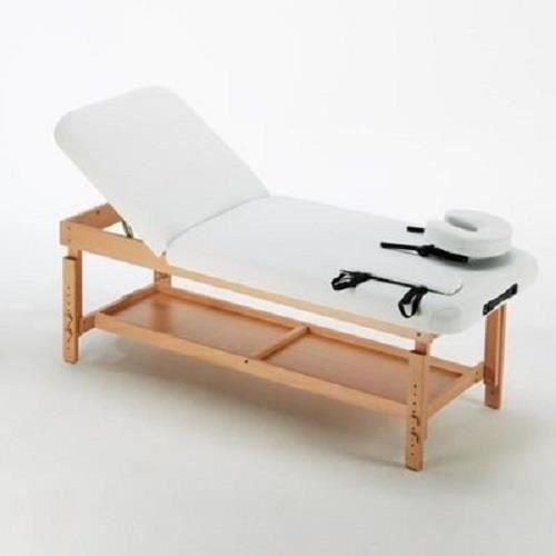 Table de massage. fixe bois wengé.