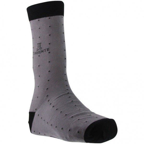 TORRENTE COUTURE Chaussettes Homme Coton POIS Taupe