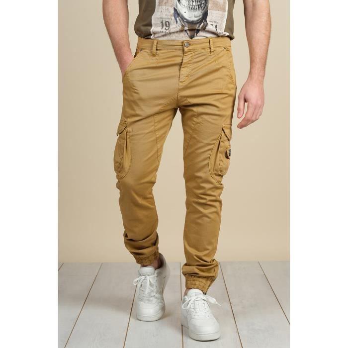 DEELUXE Pantalon cargo à poches GARDEN Camel