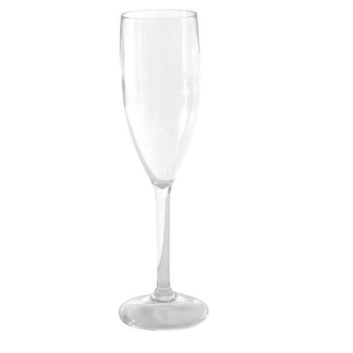 Verres à champagne polycarbonate x 3