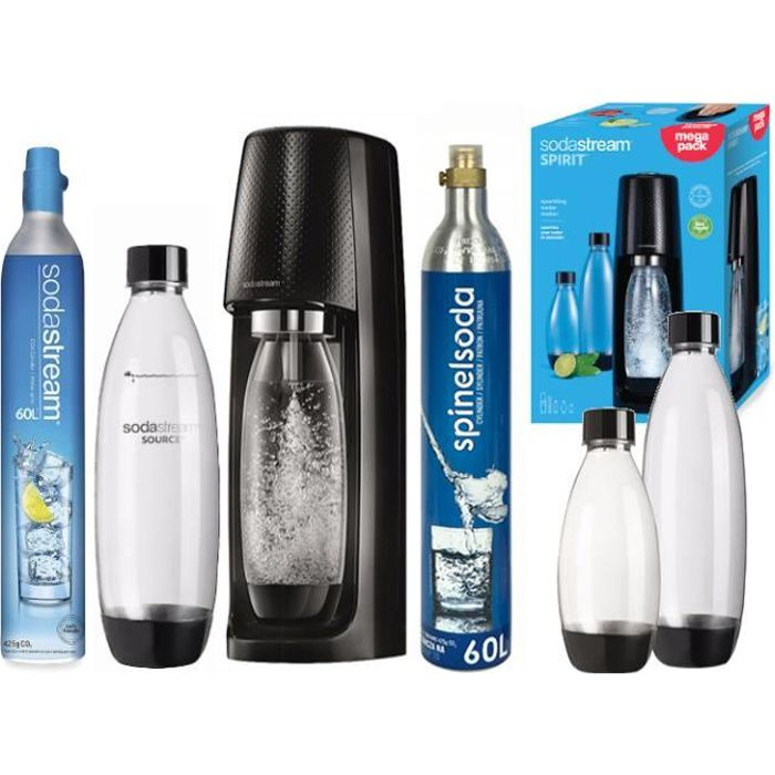 SATURATEUR SODASTREAM + CARTOUCHE SPINELSODA
