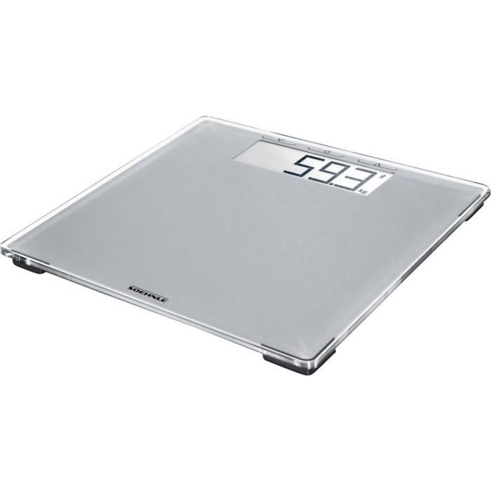 Pèse-personne numérique Soehnle Style Sense Connect 100 Plage de pesée (max.)=180 kg gris avec Bluetooth