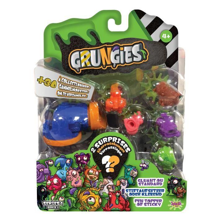 SPLASH-TOYS Pack de petites figurines dégoutantes à collectionner Grungies family