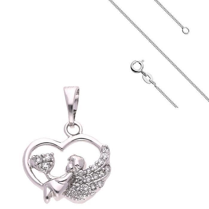 Collier Pendentif Coeur Love Cristal Swarovski* Argent 925