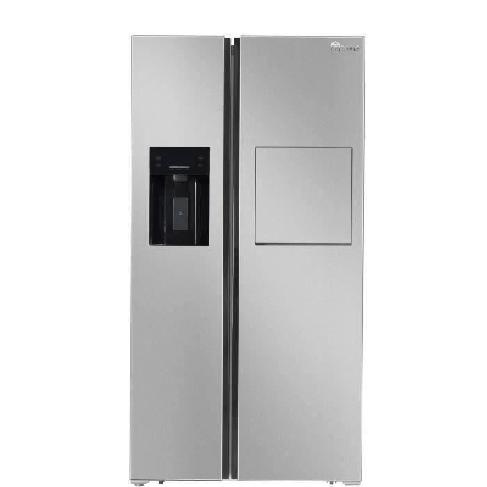 TRIOMPH TSN541NFHS - Réfrigérateur Américain - 541 L (372 + 169) - Froid ventilé - A+ - L 91.1 x H 178 cm - Homebar - Silver