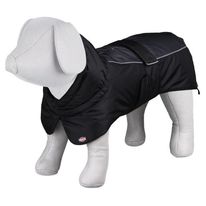 TRIXIE Manteau d'hiver Prime L: 55 cm noir/gris pour chien