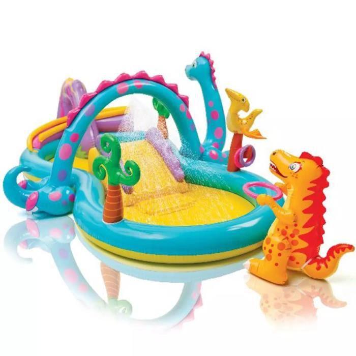 Piscine gonflable aire de jeux Intex Dinoland 333x229x112 cm 57135EP Multicolore