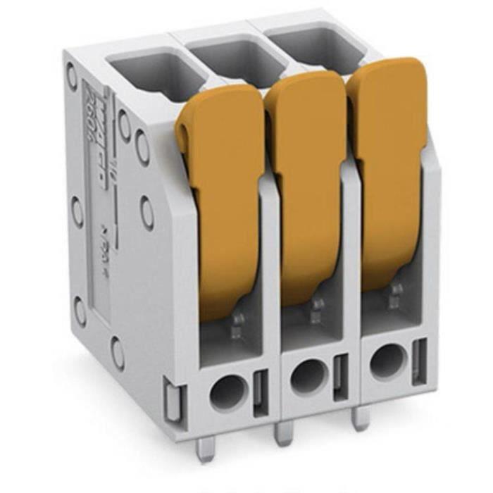 Borne pour circuits imprimés WAGO 2604-3102 4 mm² Nombre de pôles 2 1 pc(s) - CONNECTEUR SECTEUR