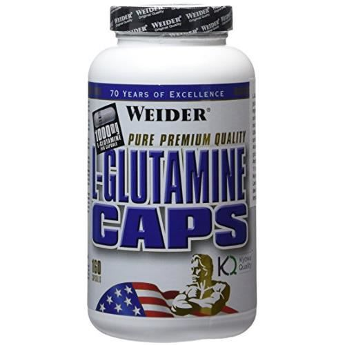 WEIDER Pot de l-glutamine 160gel x 1000mg