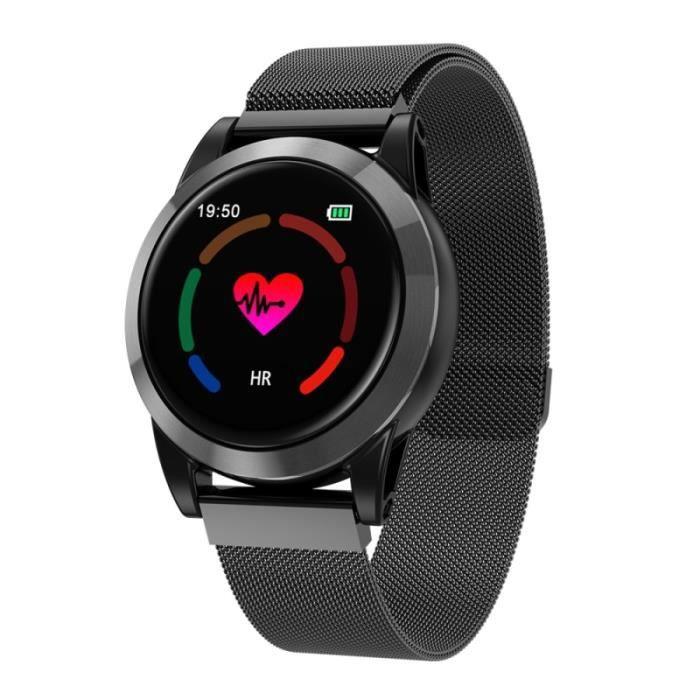 Montre Connectée Android Ios Bracelet Cardio Ips 1.3 Pouce 2.5d Noir - Yonis