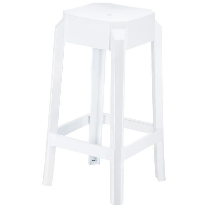 tabouret snack mi hauteur 39 leno mini 39 blanc en achat. Black Bedroom Furniture Sets. Home Design Ideas