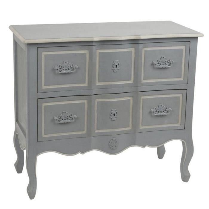 commode style louis xv couleur grise achat vente commode de chambre commode style louis xv. Black Bedroom Furniture Sets. Home Design Ideas