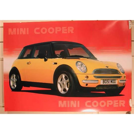 affiche mini cooper achat vente affiche cdiscount. Black Bedroom Furniture Sets. Home Design Ideas