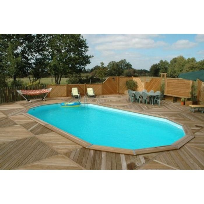 Piscine bois octogonale 7 8x5 5x1 34 achat vente kit for Destockage piscine bois