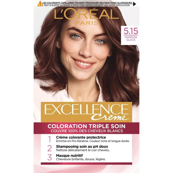 l oreal paris coloration cheveux excellence permanente 5 15 marron glac achat vente. Black Bedroom Furniture Sets. Home Design Ideas