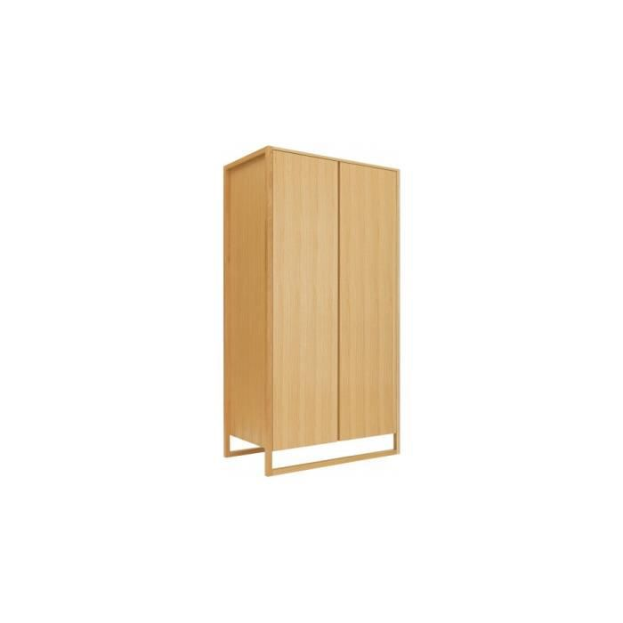 armoire scandinave ch ne naturel 2 portes achat vente armoire de chambre armoire scandinave. Black Bedroom Furniture Sets. Home Design Ideas