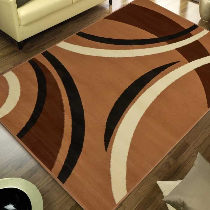 tapis moderne pour salon platino beige 80x140 par achat. Black Bedroom Furniture Sets. Home Design Ideas
