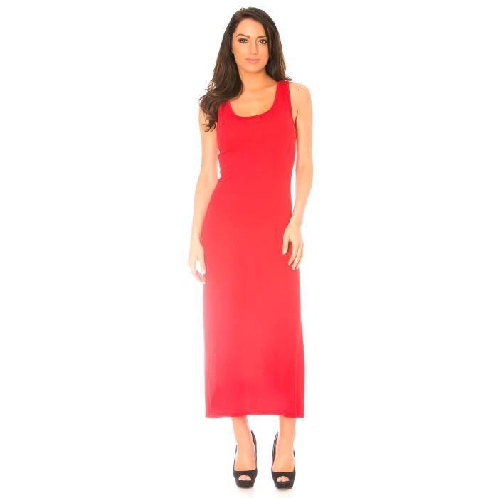 Dmarkevous - Longue robe débardeur rouge