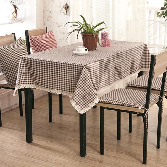 Table rectangle coton linge de table rectangle - Linge de table raffine ...