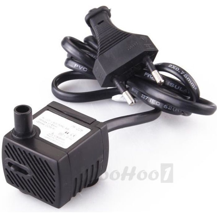 Pompe eau submersible pump aquarium poisson fontaine 220l for Pompe pour aquarium