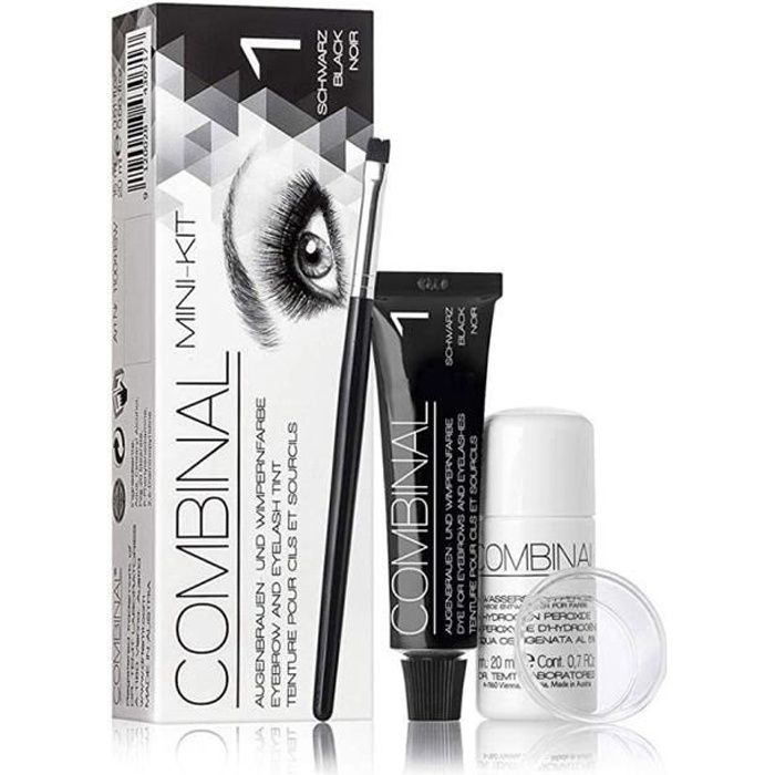 mascara kit teinture cilssourcils combinal bruncht - Coloration Sourcil