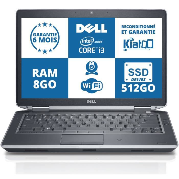 ordinateur portable dell latitude e5430 core i3 8go ram. Black Bedroom Furniture Sets. Home Design Ideas