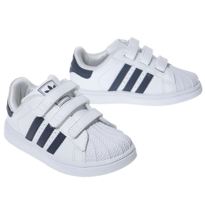 adidas baskets superstar ii cmf b b blanc et marine achat vente basket cdiscount. Black Bedroom Furniture Sets. Home Design Ideas