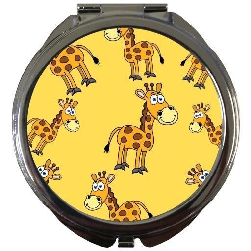 MIROIR DE POCHE   - Girafe Sourire