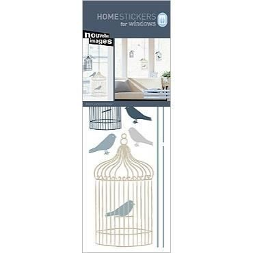 stickers vitres electrostatiques cages et oiseaux achat vente stickers vinyl cdiscount. Black Bedroom Furniture Sets. Home Design Ideas