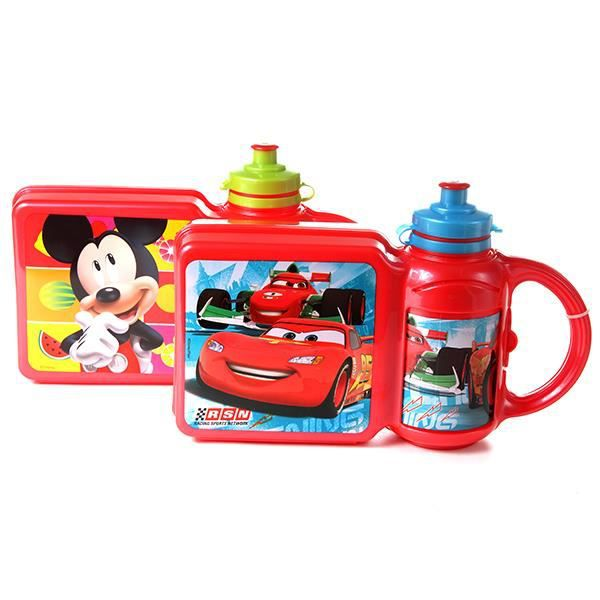 lunch box pour enfant et gourde amovible gar on achat vente lunch box bento lunch box. Black Bedroom Furniture Sets. Home Design Ideas