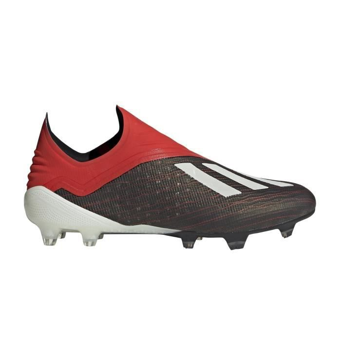 Chaussures football adidas X 18 FG Noir-Rouge - Cdiscount Sport