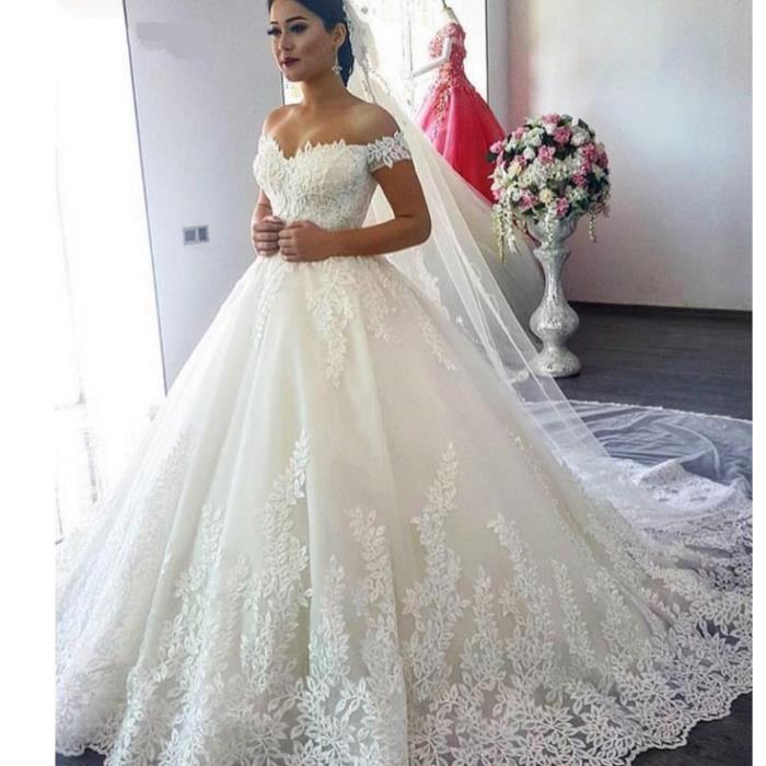 OLALI® Robe De Mariée Princesse Hors épaule