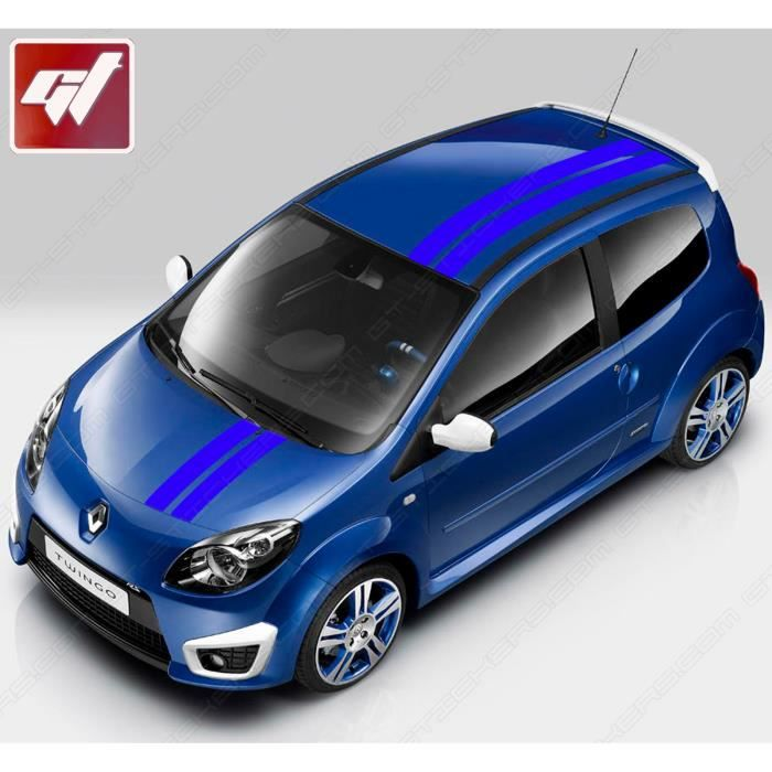 stickers autocollants kit complet bandes gordini renault twingo bleu royal achat vente. Black Bedroom Furniture Sets. Home Design Ideas