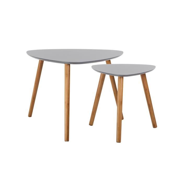 table basse scandinave grise lot de 2 achat vente