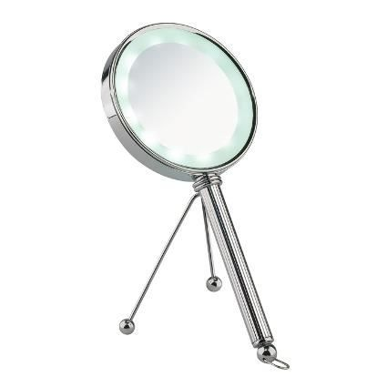 Miroir vaduz ronde double face achat vente miroir de for Miroir double face